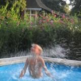zwembad bij pipowagen deluxe