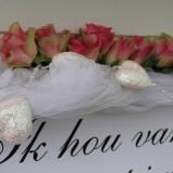 ik hou van jou decoratie pipowagen deluxe voor huwelijksjubiea en  bruidsparen buitengoed de gaard