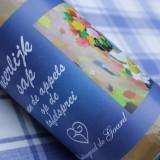 sap van de appels op de tafelsprei in gratis 'dichter bij liefde' welkomstpakket gasten buitengoed de gaard