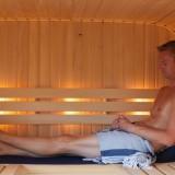 helemaal tot rust komen in de privé sauna voor gasten van buitengoed de gaard vakantie weekend midweek in limburg fotografie belinda keulen