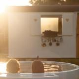 relaxend bad in dutchtub bij weide wereld wellness voor gasten buitengoed de gaard heythuysen fotografie belinda keulen