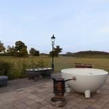 uitzicht privé sauna bij buitengoed de gaard weide wereld wellness hot-tub domplebad relaxbedden fotografie belinda keulen