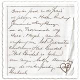 handgeschreven tekst voor prospectus buitengoed de gaard door bair peters, vader van huidig eigenaar-gastvrouw anja